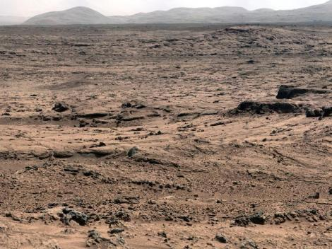 Rocknest, where Curiosity scooped its soil sample. Photo: NASA.