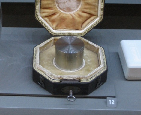The standard platinum kilogram at the Musee Des Arts And Metiers in Paris. Photo: Matthew Phillips/Flickr
