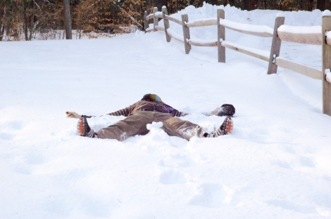 Not exactly how snowfall measurement is done, but ... close enough. Photo: David Goehring/Flickr